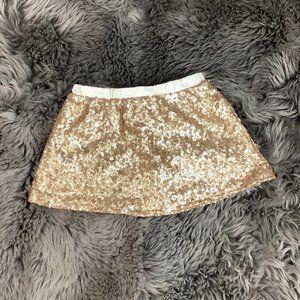 Toughskins Girls Gold Skirt: Size S